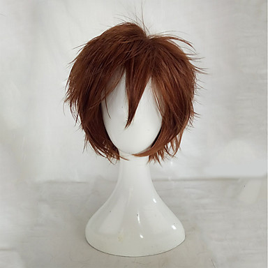 Synthetic Wig / Cosplay & Costume Wigs Curly Layered Haircut Synthetic Hair Brown Wig Women's Short Capless
