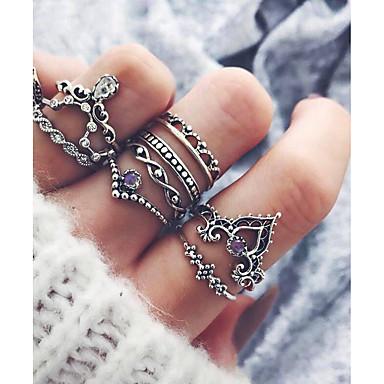 Dames Legering Ongewoon Uniek ontwerp Modieus Hip-hop Modieuze ringen Sieraden Hamsa hand Zilver Voor Lahja Dagelijks One-Size