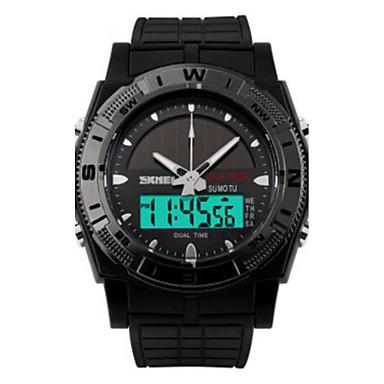 Homens Relógio Esportivo Impermeável / LED PU Banda Amuleto Preta / Dois anos / Maxell CR2016