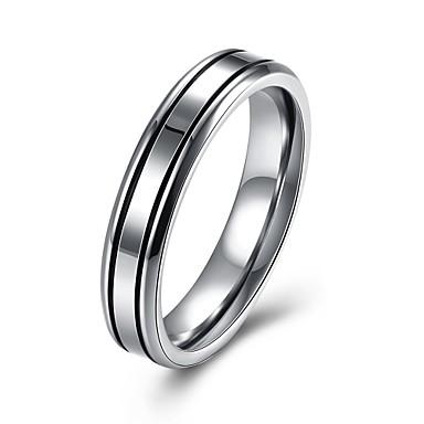 Damen Bandring Schmuck Silber Edelstahl versilbert Kreisförmig Geometrische Form Irregulär Personalisiert Luxus Klassisch Retro Böhmische