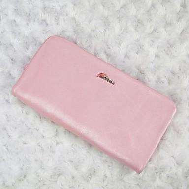 Damen Scheckheft Brieftasche Andere Lederart Ganzjährig Alltag Normal Reißverschluss Rosa