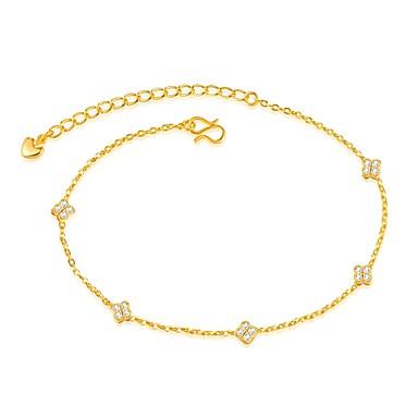 Luxus Cirkonium / Arannyal bevont - Női Arany Luxus / Divat Line Shape / Négylevelű lóhere Bokalánc Kompatibilitás Esküvő / Parti