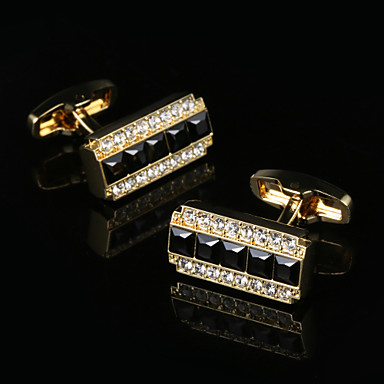 Geometric Golden Cufflinks Classic / Gift Boxes & Bags / Fashion Men's Costume Jewelry For Party / Business / Ceremony / Wedding