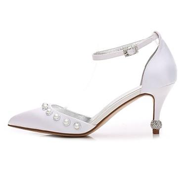 mariage D'Orsay Bas 06096632 Printemps Pièces Talon amp; Escarpin Chaussures Talon Satin Basique Cône Chaussures Confort de Deux Eté Femme UXOTBqX