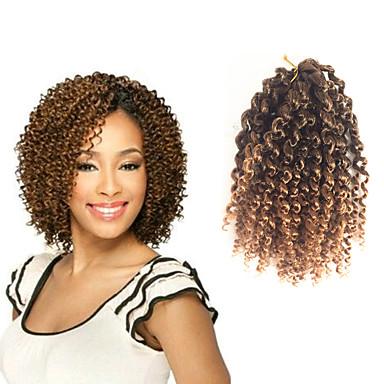 Jerry hajfürt 100% kanekalon haj 100% kanekalon haj 3db / csomag Göndör fonás Hair Zsinór Közepes hosszúságú
