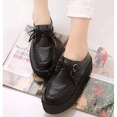 Damen Schuhe Atmungsaktive Mesh PU Sommer Komfort Sneakers für Normal Weiß Schwarz Schwarz/weiss