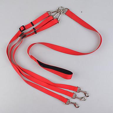 Kutya Szempillák Dupla póráz kutyáknak Biztonság Egyszínű Műanyag Fekete Piros Kék