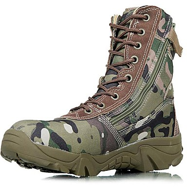 Men's Bootie Canvas Fall / Winter Boots Hiking Shoes Green