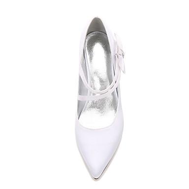Eté Talon Bout Printemps Cône mariage Talon Confort Basique Chaussures pointu Bas de Escarpin Satin Femme Chaussures Kitten 06095015 Heel CtRaCq7