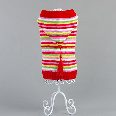 Dog Sweater / Hoodie Dog Clothes Stripe Cotton Costume For Pets Men's / Women's Casual / Daily / Christmas