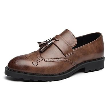 Férfi cipő Bőr Tavasz / Ősz Kényelmes Papucsok & Balerinacipők Fekete / Szürke / Barna