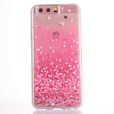 Case For Huawei Flowing Liquid / Transparent / Pattern Back Cover Heart Soft TPU for P10 Plus / P10 / Honor V9