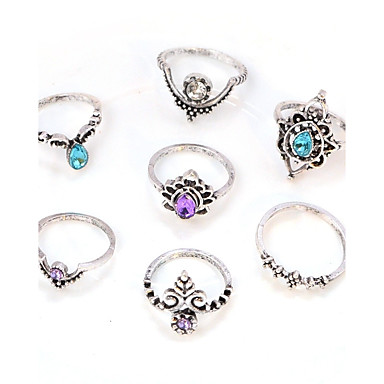 Women's Crystal Ring - Crystal, Imitation Diamond, Alloy Flower Vintage, Fashion, Elegant One Size Silver For Daily / Casual / Evening Party