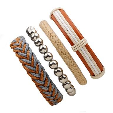 Men's Women's Wrap Bracelet - Leather Personalized Bracelet Beige For Street Going out
