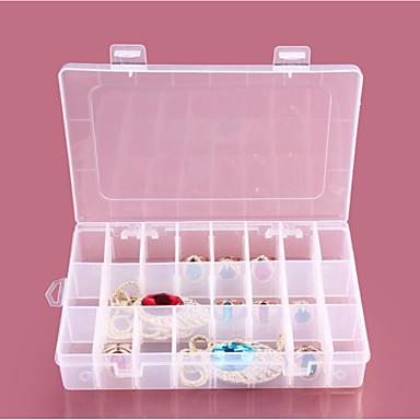 1 قطعة 24 مقصورة صناديق بلاستيكية شفافة تخزين المجوهرات