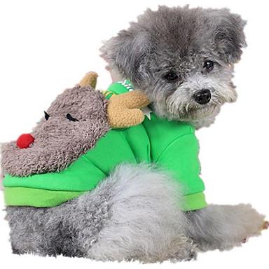 Hund Pullover Hundekleidung Lässig/Alltäglich Rentier Grau Rot Grün