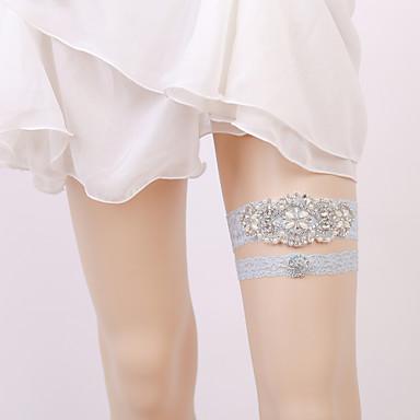 Elastic Leg Warmers / Party / Wedding Wedding Garter With Rhinestone Garters