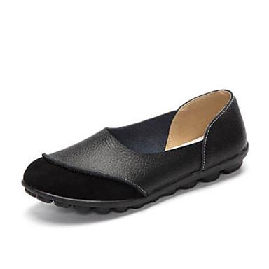 Damen Schuhe PU Sommer Komfort Loafers & Slip-Ons Für Normal Schwarz Gelb Rot