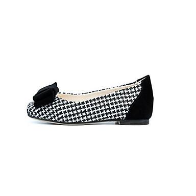 Damen Schuhe PU Nubukleder Frühling Herbst Komfort Flache Schuhe für Normal Schwarz Rot