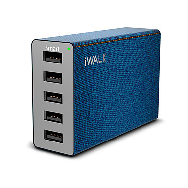 USB Charger K-MU018A 5 Desk Charger Station with Smart Identification Universal Charging Adapter