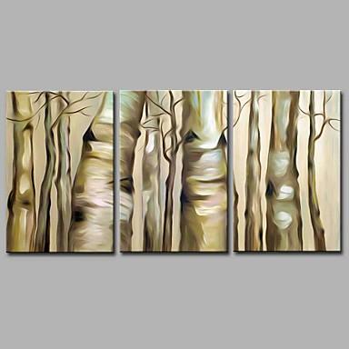 Hang festett olajfestmény Kézzel festett - Landscape Művészi / Absztrakt / Modern / kortárs Vászon / Nyújtott vászon