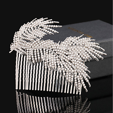 Rhinestone / Alloy Hair Combs / Flowers / Hair Clip with 1 Wedding / Special Occasion / Birthday Headpiece