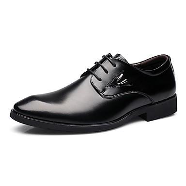 Herrn Schuhe Leder Frühling / Herbst formale Schuhe / Komfort Outdoor Schwarz / Braun
