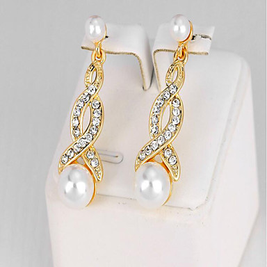 Women's Synthetic Diamond Drop Earrings - Imitation Pearl Fashion Gold For Party / Birthday / Gift
