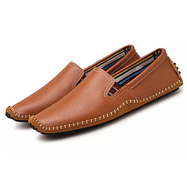 Men's Comfort Shoes PU(Polyurethane) Spring / Fall Loafers & Slip-Ons Black / Brown / Blue