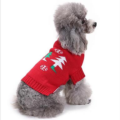 Cica Kutya Pulóver Kutyaruházat Egyszínű Piros Elasztikus Jelmez Háziállatok számára Party Casual/hétköznapi Karácsony
