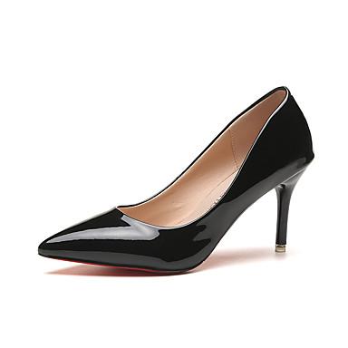 Damen Schuhe PU Sommer Komfort High Heels für Draussen Weiß Schwarz Rot Rosa