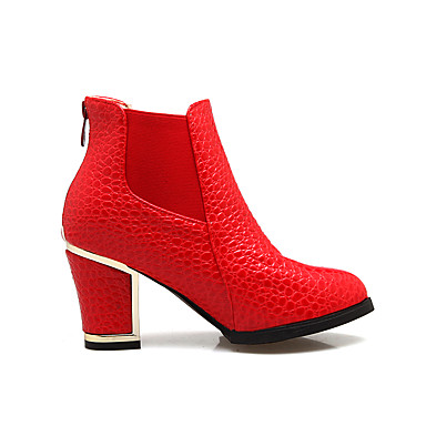 Noir Hiver Botte Demi Automne Boucle Bottine Bottes 06181683 rond Bottes Bout Talon Bottier la Chaussures Blanc Mode Similicuir à Femme qtZxnU1pSw