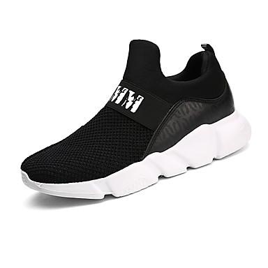 Men's Tulle Spring / Summer / Fall Comfort Sneakers Walking Shoes White / Black / Gray