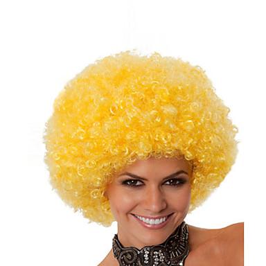 Jelmez parókák / Szintetikus parókák Göndör Afro-amerikai paróka Szőke Sapka nélküli Jelmez paróka Közepes Szintetikus haj