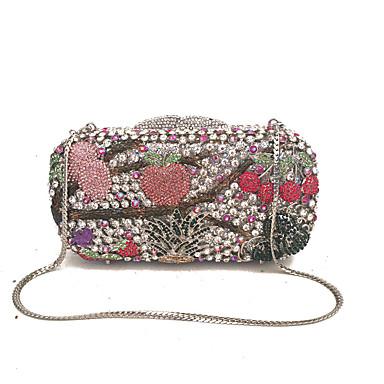 Női Táskák Fém Estélyi táska Kristály / Fémlánc / Lánc Szivárvány / Tekintettel Crystal Evening Bags / Tekintettel Crystal Evening Bags