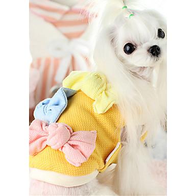 Hund Weste Hundekleidung Lässig/Alltäglich Schleife Gelb Fuchsia