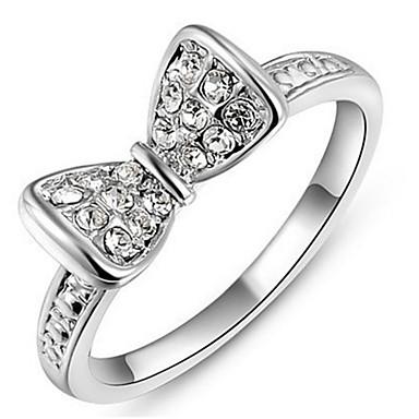 Damen Bandring Kristall Personalisiert Luxus Klassisch Grundlegend Sexy Liebe Elegant nette Art Modisch Krystall Aleación Schleifenform
