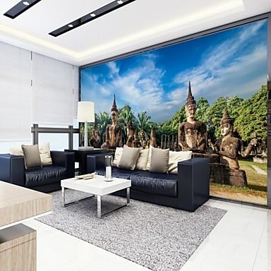 3D city View Klasszikus lakberendezési Rusztikus Stílus Modern/kortárs Falburkolat, Vászon Anyag ragasztószükséglet Falfestmény, szoba