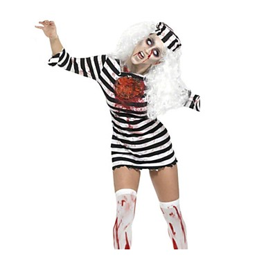 Cosplay Kostüme Zombie Cosplay Fest/Feiertage Halloween Kostüme Vintage Gymnastikanzug Mützen Halloween Karneval Frau Elastan