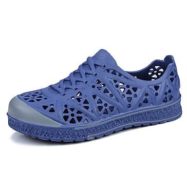 Férfi cipő PU Nyár Kényelmes Papucsok & Balerinacipők Fekete / Szürke / Kék