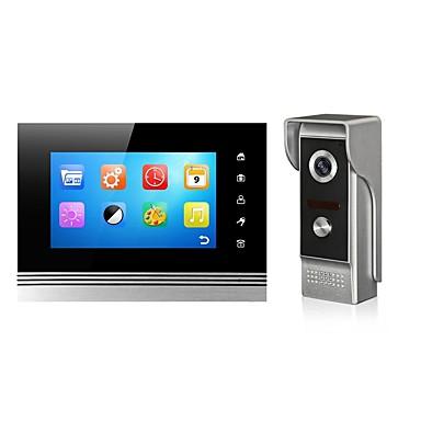 XSL-V70Km Vezetékes Fényképezte / Felvétel 7 hüvelyk Hands free 800*480 Pixel Egy az egyhez videó kaputelefon