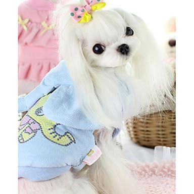 Hund Weste Hundekleidung Tier Blau Rosa Baumwolle Daune Kostüm Für Haustiere Lässig / Alltäglich