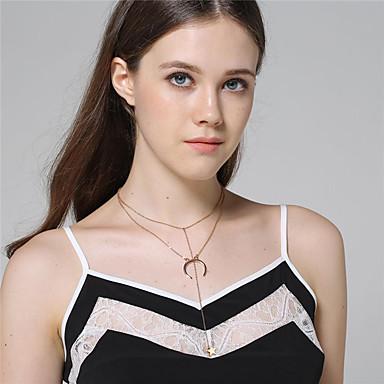 Damen Anhängerketten - Modisch Gold Silber Modische Halsketten Für Alltag Normal Strasse