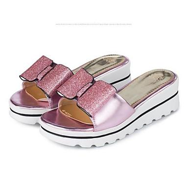 Damen Schuhe PU Sommer Komfort High Heels Für Normal Gold Silber Leicht Rosa