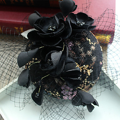 Tulle / Chiffon / Rhinestone Fascinators / Hats / Hair Clip with 1 Wedding / Special Occasion / Birthday Headpiece