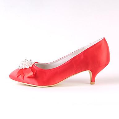 la base des chaussures de mariage au printemps et et et à l'automne à bouts fermés les / bowknot faible talon rouge / ivoire / parti / pearl et soirée 0ccc97