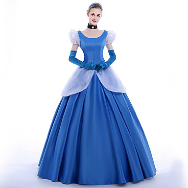 Princess Cinderella Queen Cosplay Costume Party Costume Masquerade Movie Cosplay Dress Gloves Petticoat Headband Christmas Halloween