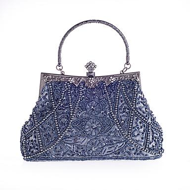 povoljno Clutch i večernje torbice-Žene Štras / Biserni detalji Večernja torbica Kristalne vrećice od kristalnog kamena Poliester Sive boje / Crvena / Tamno plava