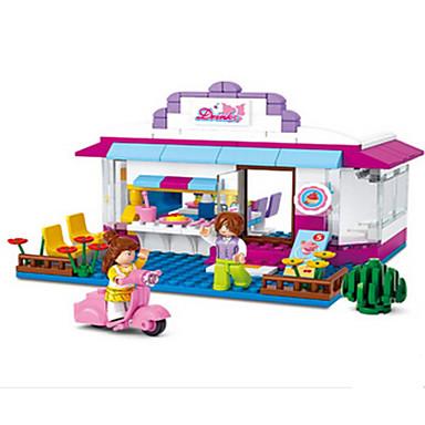 Tue so als ob du spielst Bausteine Minifiguren aus Blockbausteinen Modellbausätze Spielzeuge Burg Haus Tiere Kunststoff Mädchen Stücke