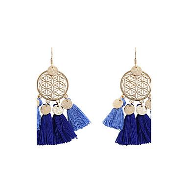 Women's Tassel Drop Earrings - Personalized, Tassel, Bohemian Green / Depression Green / Light Blue For Wedding / Party / Graduation